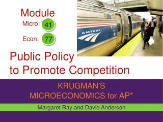 Public Policy  to Promote Competition