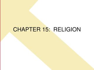 CHAPTER 15:  RELIGION