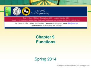 Chapter 9  Functions