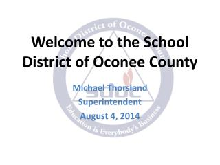Welcome to the School District of Oconee County