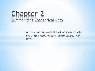 Chapter  2 Summarizing Categorical Data
