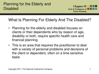 What Is Planning For Elderly And The Disabled?