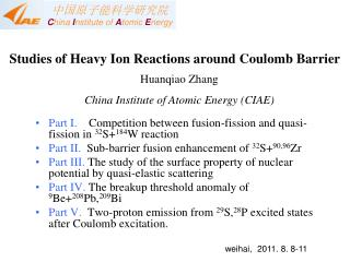 Studies of Heavy Ion Reactions around Coulomb Barrier