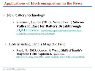 Applications of Electromagnetism in the News
