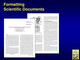 Formatting Scientific Documents