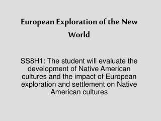 European Exploration of the New World