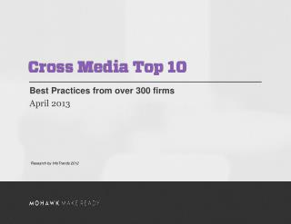 Best Practices from over 300 firms  April 2013