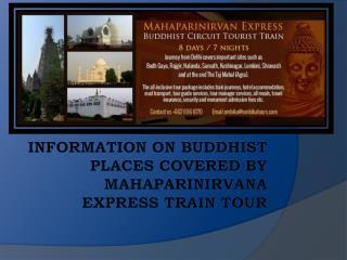 Information on Buddhist Places by MahaParinirvana Express