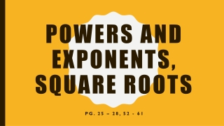 Powers and Exponents, Square Roots