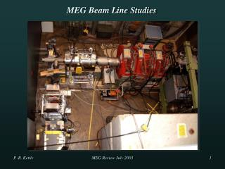 MEG Beam Line Studies