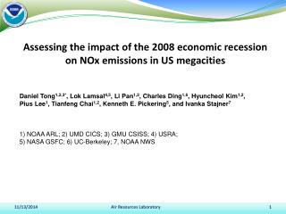 Assessing the impact of the 2008 economic recession  on NOx emissions in US megacities
