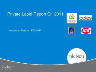 Private Label Report Q1 2011