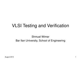 VLSI Testing and Verification