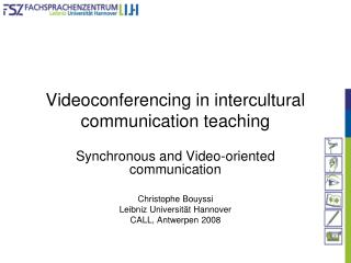 Videoconferencing in intercultural communication teaching