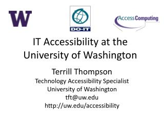 IT Accessibility at the University of Washington