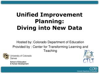 Hosted by: Colorado Department of Education