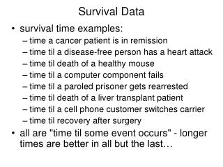 Survival Data