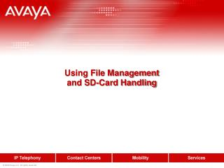 Using File Management and SD-Card Handling