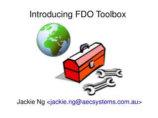 Introducing FDO Toolbox