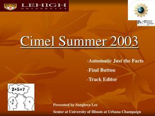 Cimel Summer 2003