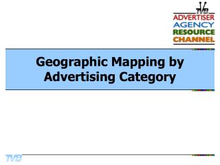 Geographic Mapping by Advertising Category