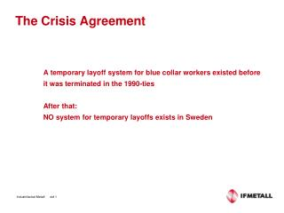 The Crisis Agreement