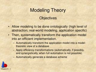 Modeling Theory