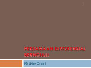 Persamaan Differensial Bernoulli