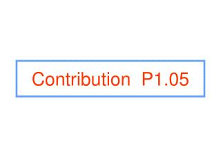 Contribution P1.05