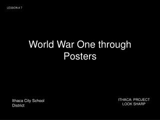 World War One through Posters