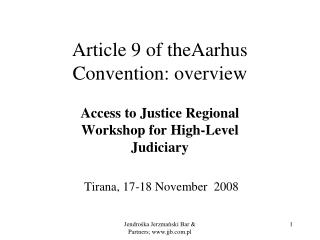Article 9 of theAarhus Convention: overview