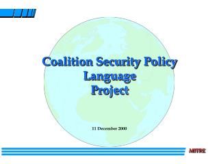 Coalition Security Policy Language Project