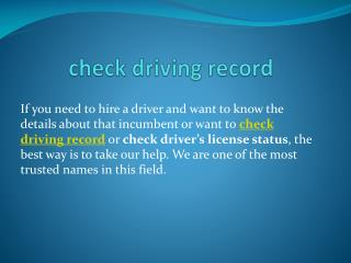 check driving record