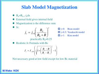Slab Model Magnetization