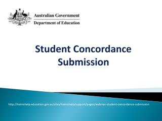 Student  Concordance Submission