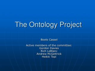 The Ontology Project