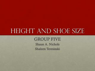 Height and shoe size