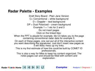 Radar Palette - Examples