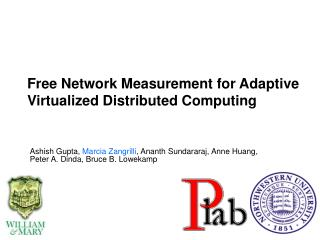 Free Network Measurement for Adaptive Virtualized Distributed Computing