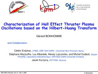 Characterization of Hall Effect Thruster Plasma Oscillations based on the Hilbert-Huang Transform