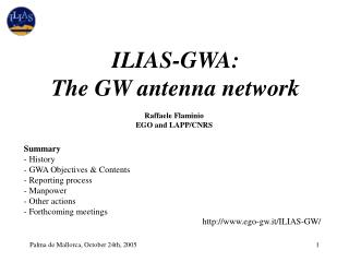 ILIAS-GWA: The GW antenna network