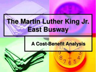 The Martin Luther King Jr. East Busway