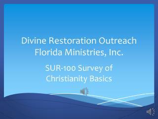 Survey of Christianity Basics SUR-100