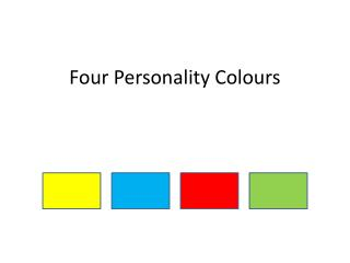 Four Personality Colours