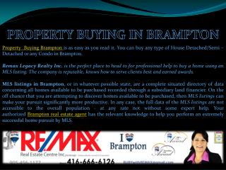 Property Buying in Brampton
