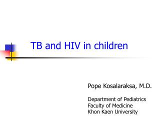 TB and HIV in children