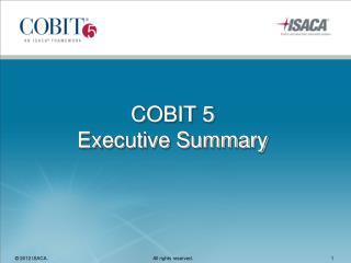COBIT 5 Executive Summary