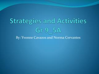 Strategies and Activities Gr  9_5A