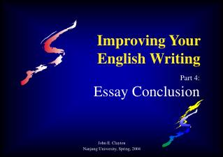 Improving Your English Writing