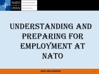 UNDERSTANDING AND PREPARING FOR EMPLOYMENT AT NATO